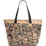 H&B Women's Tote Bag( Multicolor,BCH-Retro-blk)