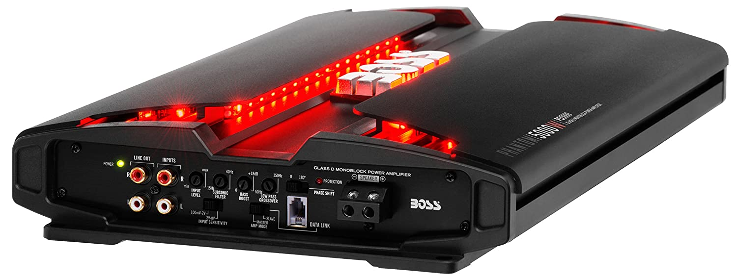 Boss Audio Systems PD5000 Alámbrico Negro - Amplificador de audio (5000 W, D, 0,01%, 100 dB, 3750 W, 1875 W): Amazon.es: Coche y moto