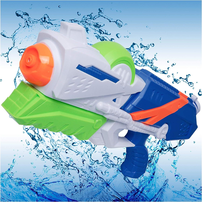 MOZOOSON Pistola de Agua Juguete de los Niños, Super Gun Water, Grande 1200ml de Agua de Largo Alcance 8-12M, Juguetes de Verano para Playa Piscina al Aire Acuáticos Partido - Niños y Adultos