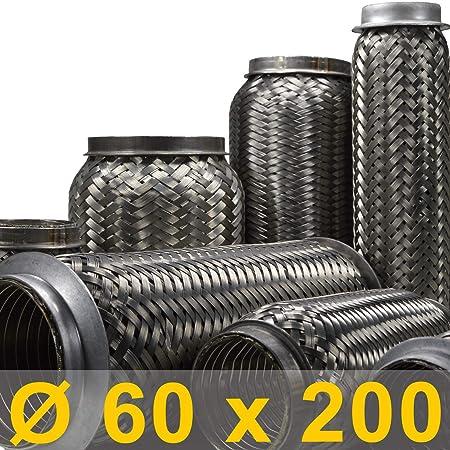 50 x 120 mm Flexrohr Flexstück Flexibles Auspuffrohr Auspuffanlage Auspuff Rohr