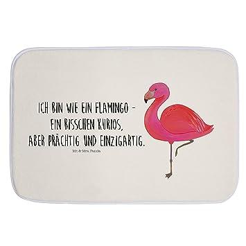Mr Mrs Panda Badteppich Badematte Badvorleger Flamingo Classic