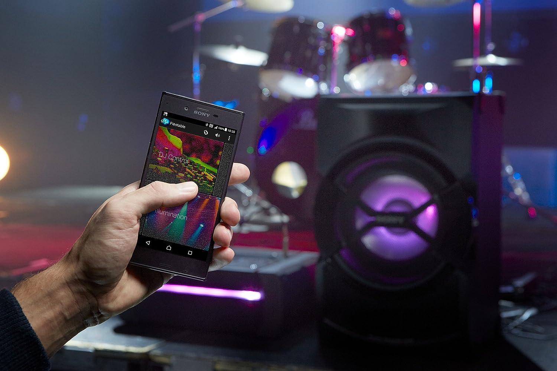 Sony SHAKEX30PI - Sistema de Audio de Alta Potencia (Reproductor de CD y DVD, Sound Pressure Horn, Party Chain, LDAC, HDMI, Karaoke, Luces LED, Efectos de DJ) Negro: Amazon.es: Electrónica