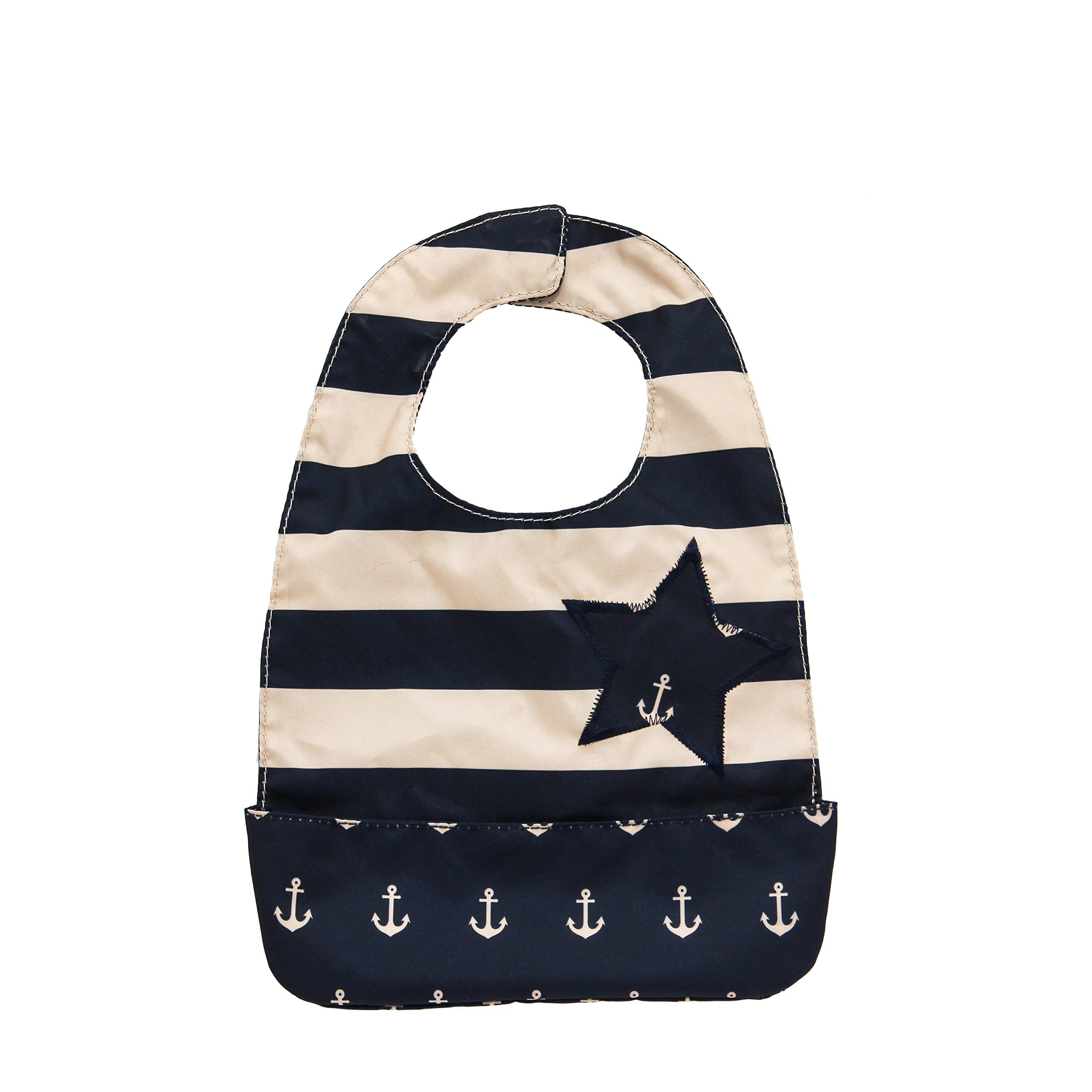 Ju-Ju-Be Legacy Nautical Collection Be Neat Reversible Bib , The Commodore