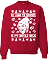 All i want for Christmas is my emails back Hilary Clinton ugly Christmas Sweatshirt unisex sweatshir Red