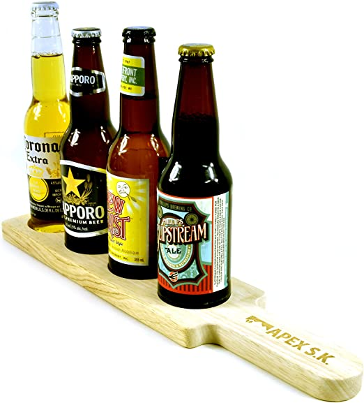 Beer Flight Tray Paddle Craft Beer Sampler Tasting Board Flight Perfect For Wine Whiskey Cocktails Amazon Ca Home Kitchen