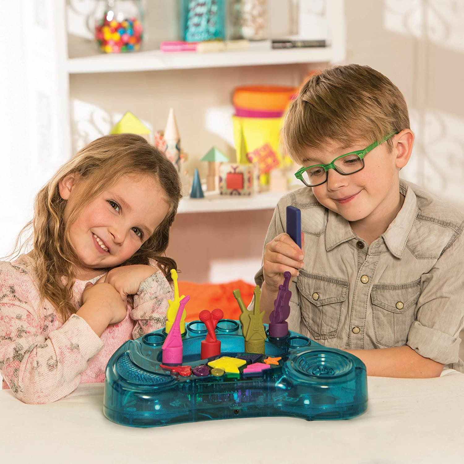toys B 15 Songs 7 Musical Instruments On an Interactive Light-Up Music Orchestra For Toddlers 3 years + Rockestra