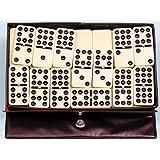 Dominoes double nine, plastic, black spots, spinners - 00122