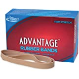 "Alliance Rubber 27075 Advantage Rubber Bands Size #107, 1 lb Box Contains Approx. 40 Bands (7"" x 5/8"", Natural Crepe)"