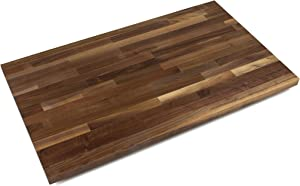 "John Boos WALKCT-BL1225-O Blended Walnut Counter Top with Oil Finish, 1.5"" Thickness, 12"" x 25"""