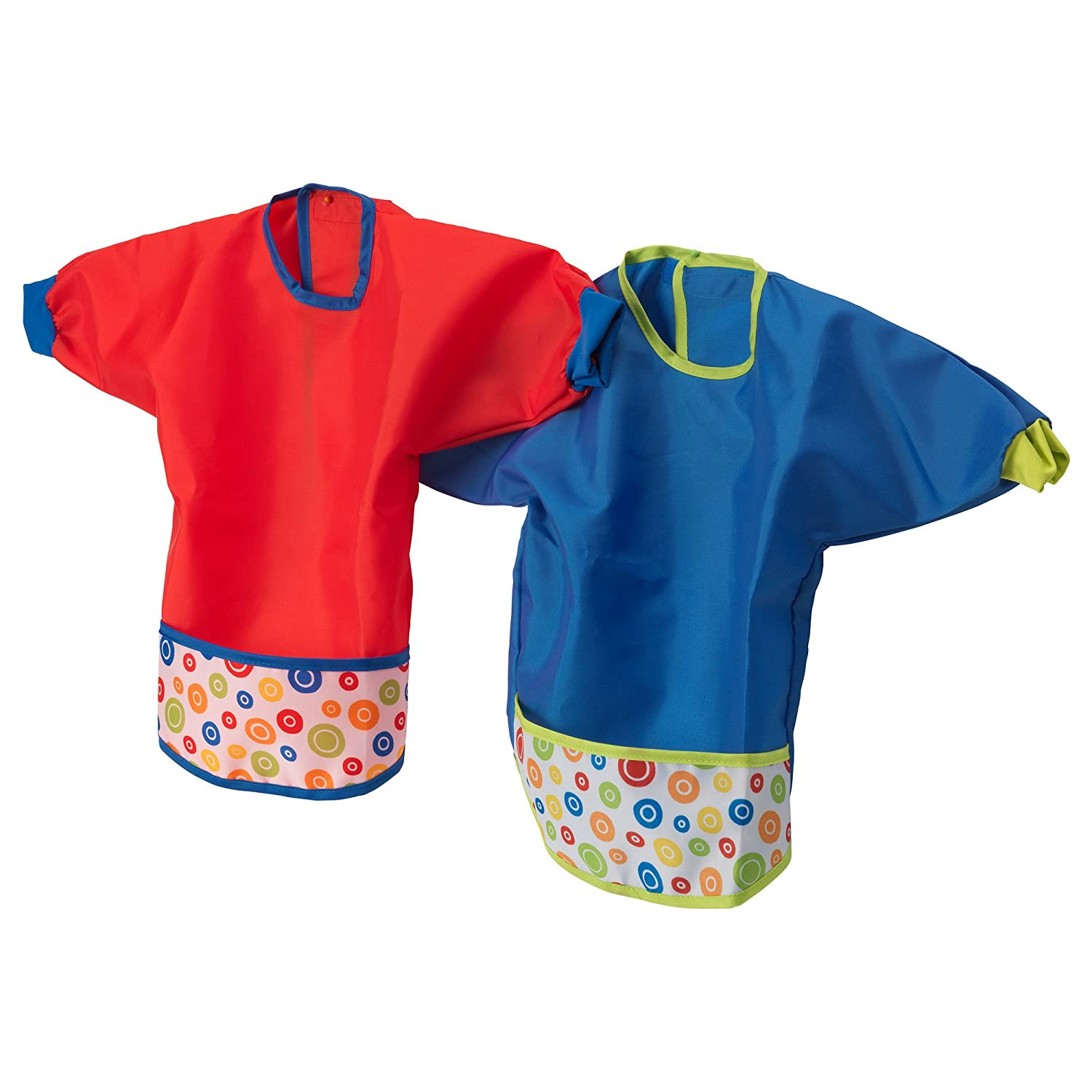 KLADD PRICKAR Bib, assorted sets of red and blue - pack of 2 IKEA