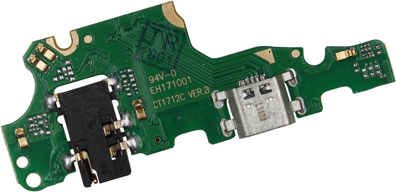 Flex Flat Base Dock Micro USB Circuito Módulo conector jack de carga Dock carga + micrófono compatible para Huawei Mate 10 Lite RNE-L01 RNE-L21