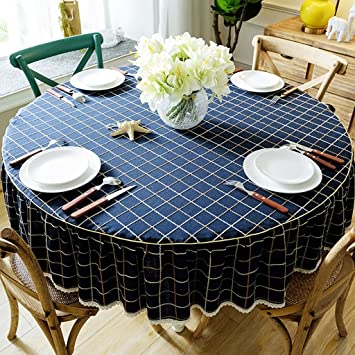 100/% Egyptian Cotton 5 Piece Ruffle Rectangular Tablecloth Dinner Table Linen