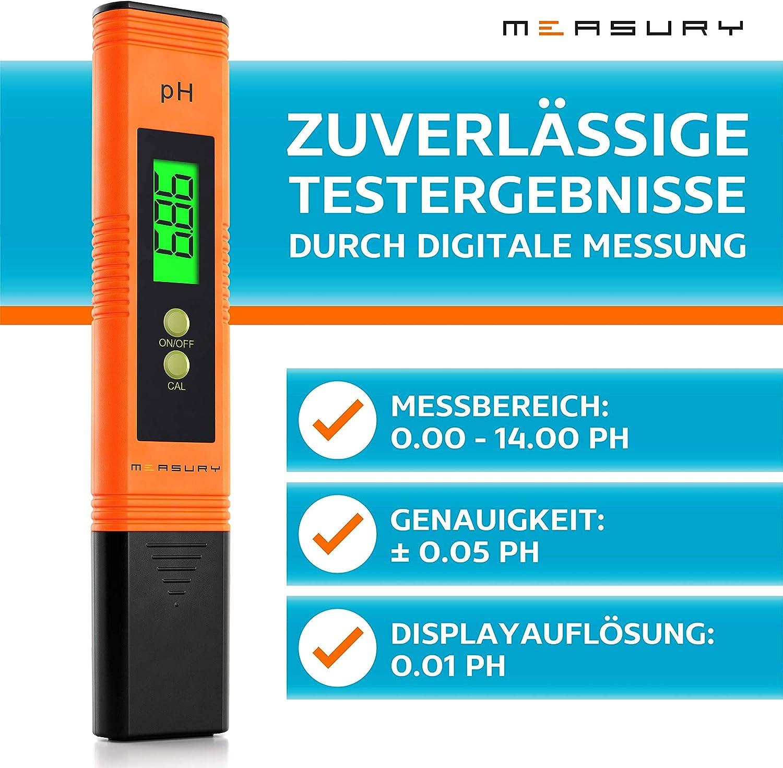 pH Meter Measury PH Messger/ät Aquarium Leitwertmessger/ät Aquarium TDS Messger/ät Set PH Tester Pool und Wasser PH Wert Messger/ät