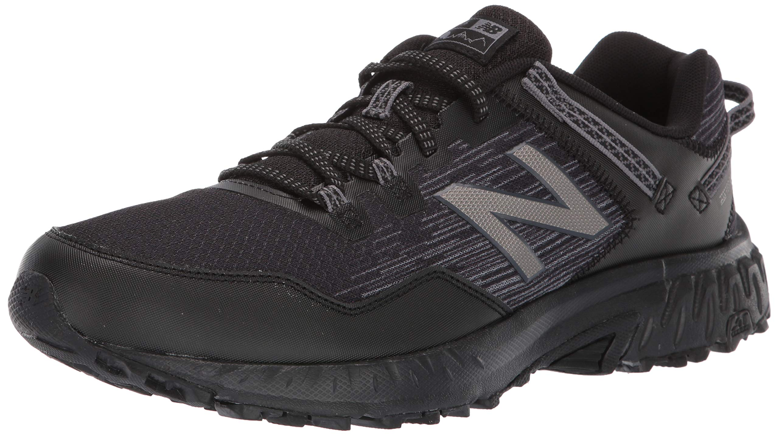 New Balance Men's 410v6 Cushioning Trail Running Shoe, Black/Castlerock/Dark Silver, 10.5 4E US by New Balance