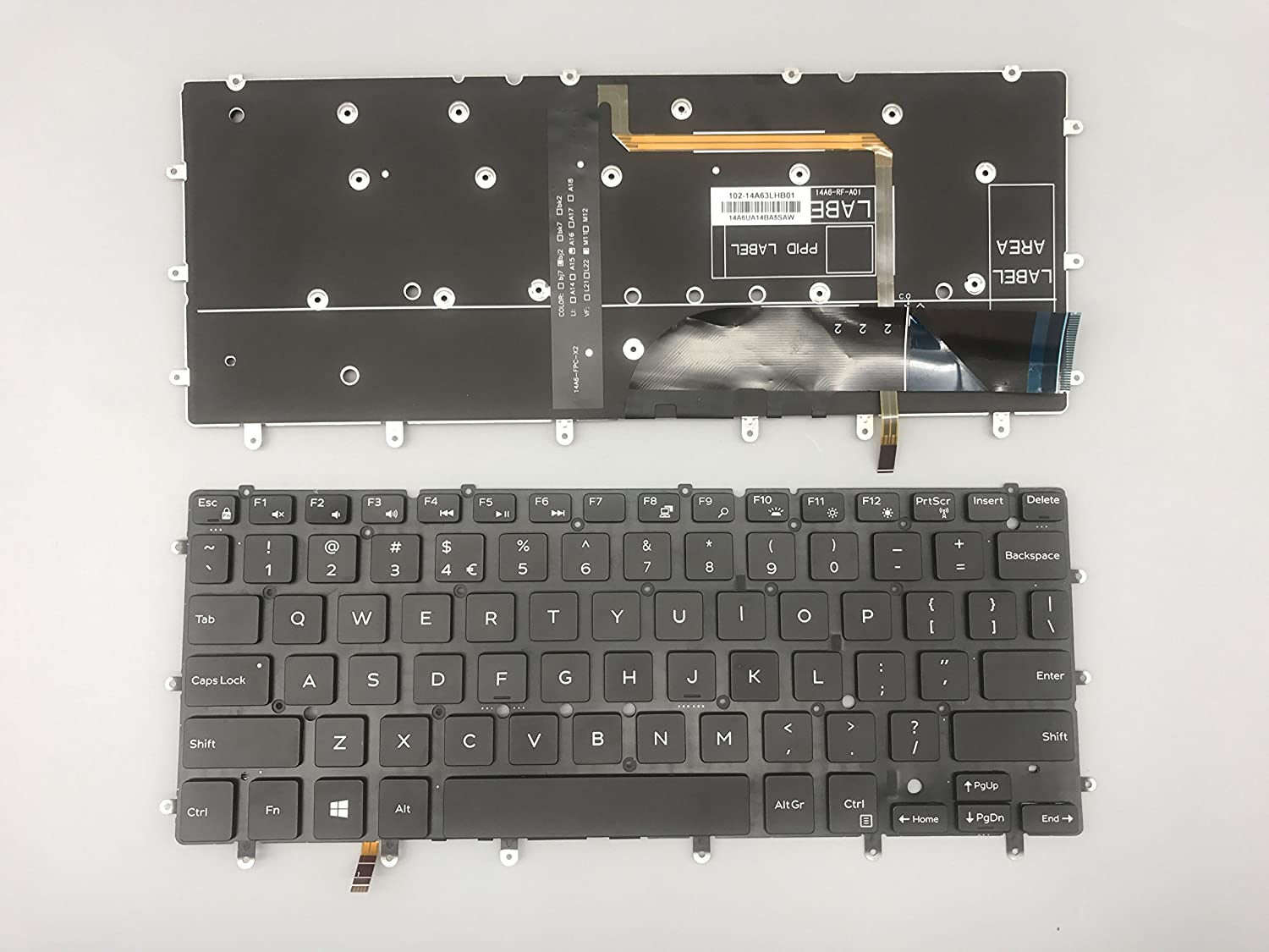 Laptop Keyboard Replacement for Dell XPS 13-9343 9350 9360 Laptop with Backlight