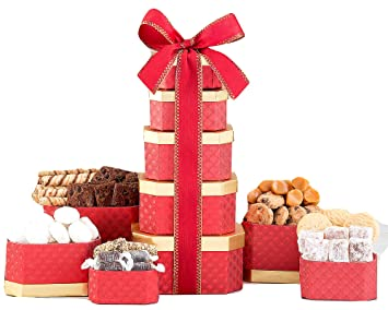 Truffle, Cookie & Chocolate Holiday Gift Tower By Wine Country Gift Basket Loaded With Lindt