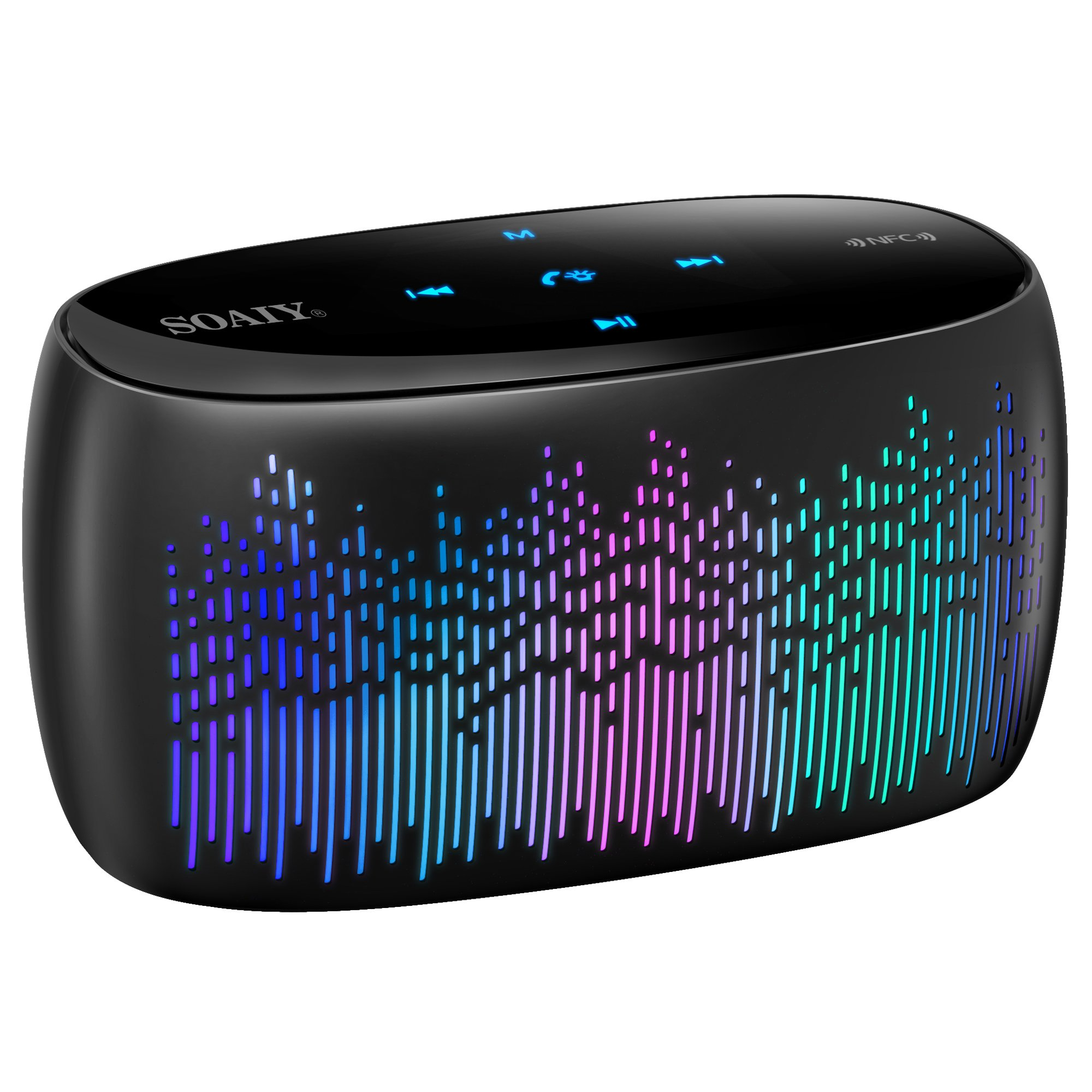 SOAIY Bluetooth Speaker, Portable Smart Touch Wireless...