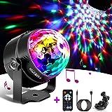 Glückluz Luces LED DJ Colores,Lámpara Proyector KTV,Mini Bola Discoteca Luces Mágica,Party Lights para Fiestas de Cumpleaños(