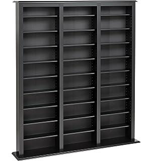 Prepac Triple Width Barrister Tower Storage Cabinet, Black