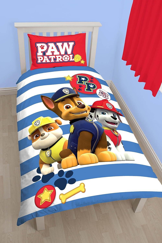 Paw Patrol Pawsome Single Duvet Set - Large Print Design Character World PAWPASDS001UK1