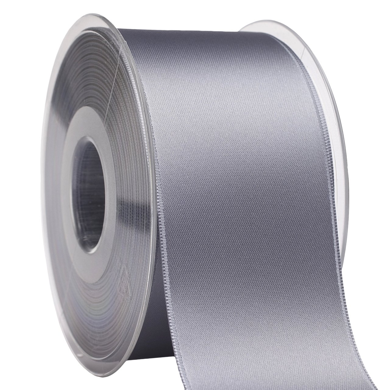 035 Swiss Satin 03550/25-036 Fabric Ribbon, 2'' x 27 yd, Grey