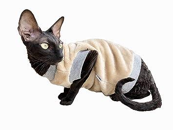 Kotomoda Ropa para Gatos Cuello Alto Beige Manto de Chimenea (S): Amazon.es: Productos para mascotas