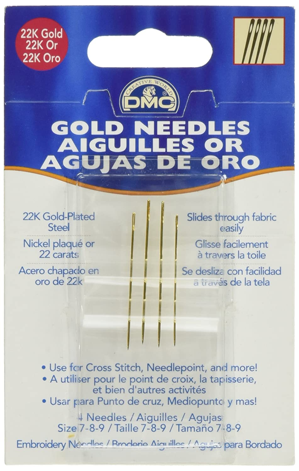Gold DMC 6133 Embroidery Hand Needles
