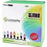 LumenPlay 1101951 Bulb Set App-Enabled C7 Extender String (24 RGB LED Lights), Green Wire