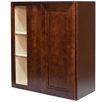 Everyday Cabinets 27 X 36 X 12 In. Soft Close Blind Corner Wall Cabinet In