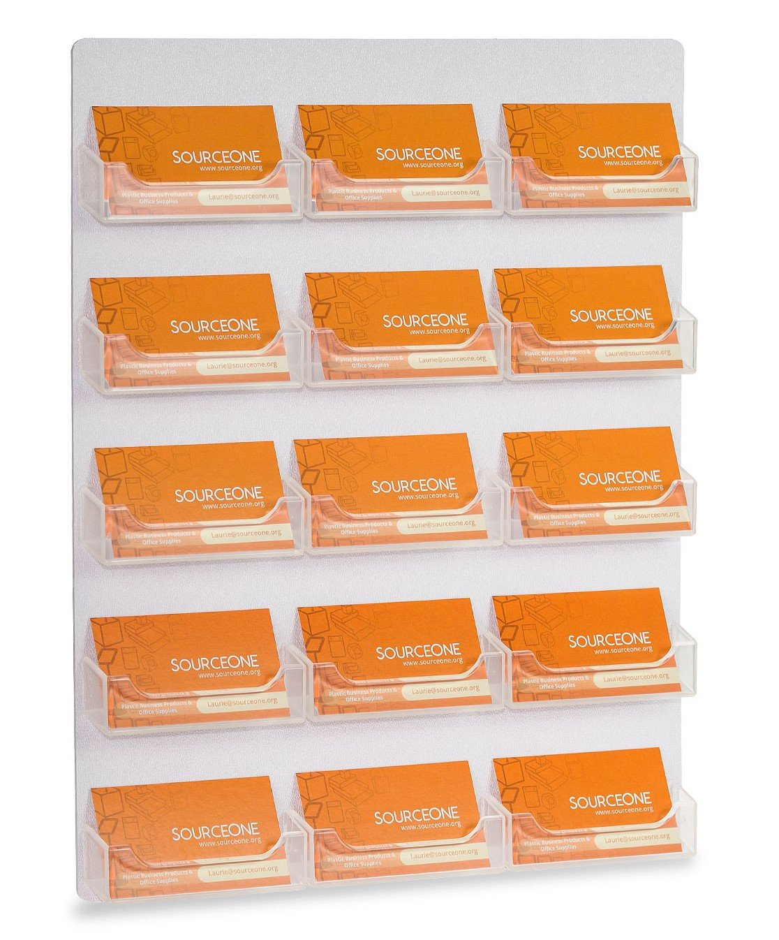 Source One 15 Pocket Wall Mount Premium Business Card Holder Display (BC-WM-15Pkt)