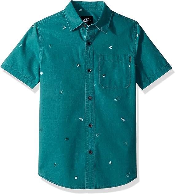 ONeill Niños SU8204111 Manga corta Camisa de vestir - Verde - Medium: Amazon.es: Ropa y accesorios
