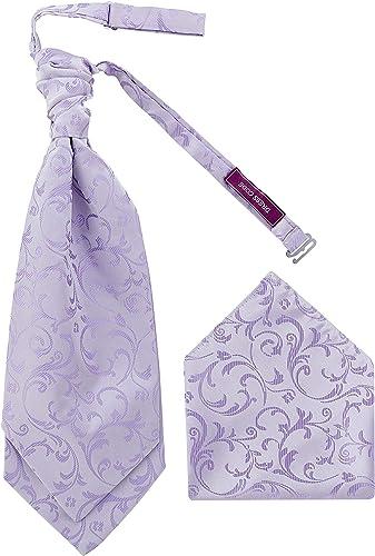 Dresscode Cravatta da Sposa Pre-Legata da Sposa Dupion Fazzoletto da Taschino Abbinato