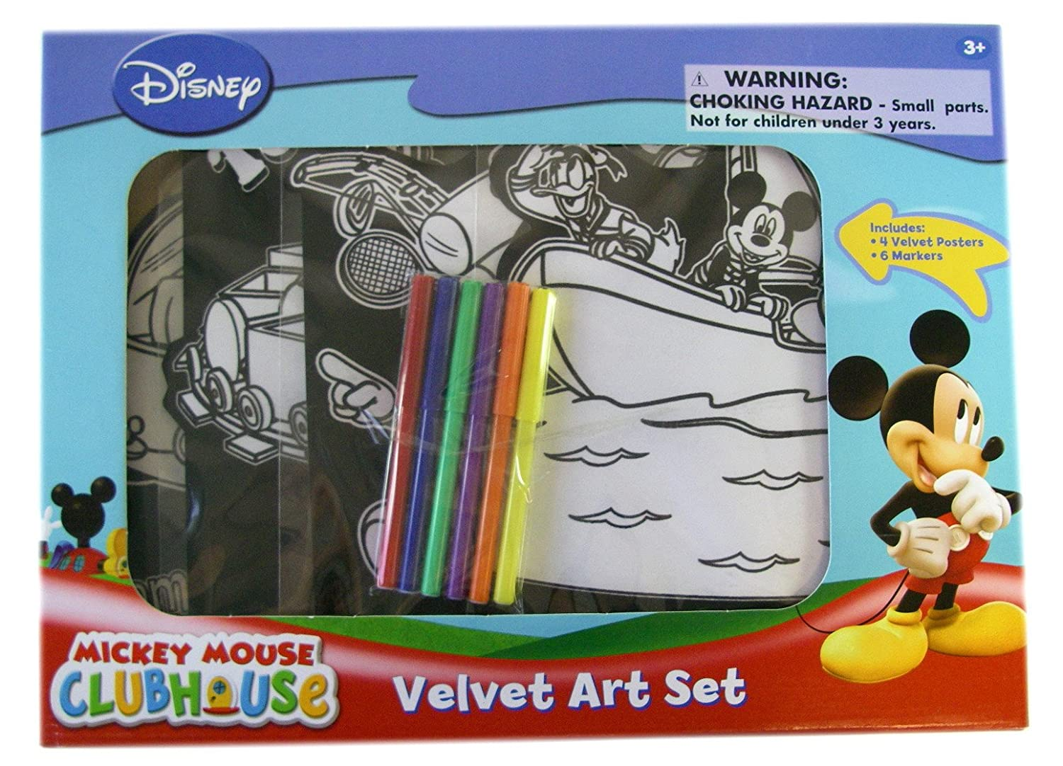 Disney velvet coloring posters - Amazon Com Disney Mickey Mouse Velvet Mickey Art Set Mickey Mouse Coloring Poster With Markers Toys Games