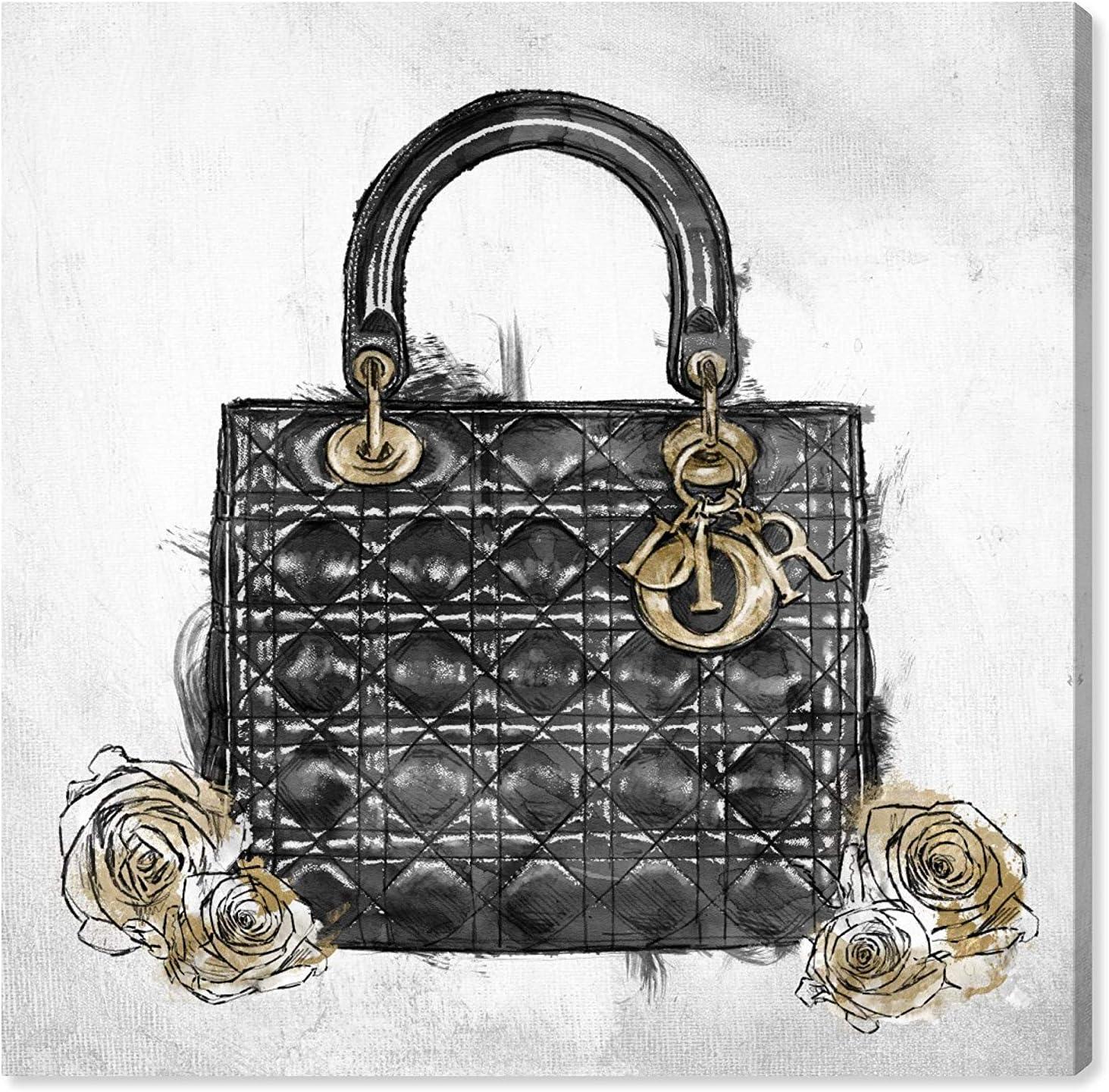 Oliver Gal 'Christian Essentials Black II' The Fashion Wall Art Decor Collection Contemporary Premium Canvas Art Print