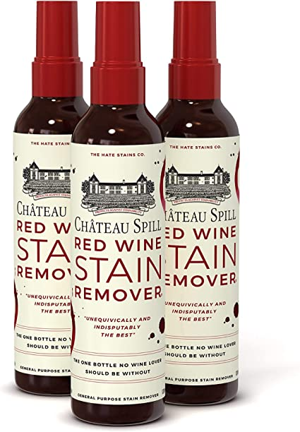 Chateau Spill Red Wine Stain Remover Super Concentrated And Safe Spray Cleaner For New And Set In Wine Stains On Carpet Rugs Clothing Upholstery And Laundry 120ml 4 Oz Spray Bottles