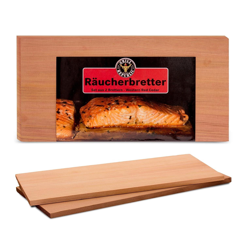 Grill Republic - Tavolette in legno di cedro rosso, 30x 15cm Fire & Flame