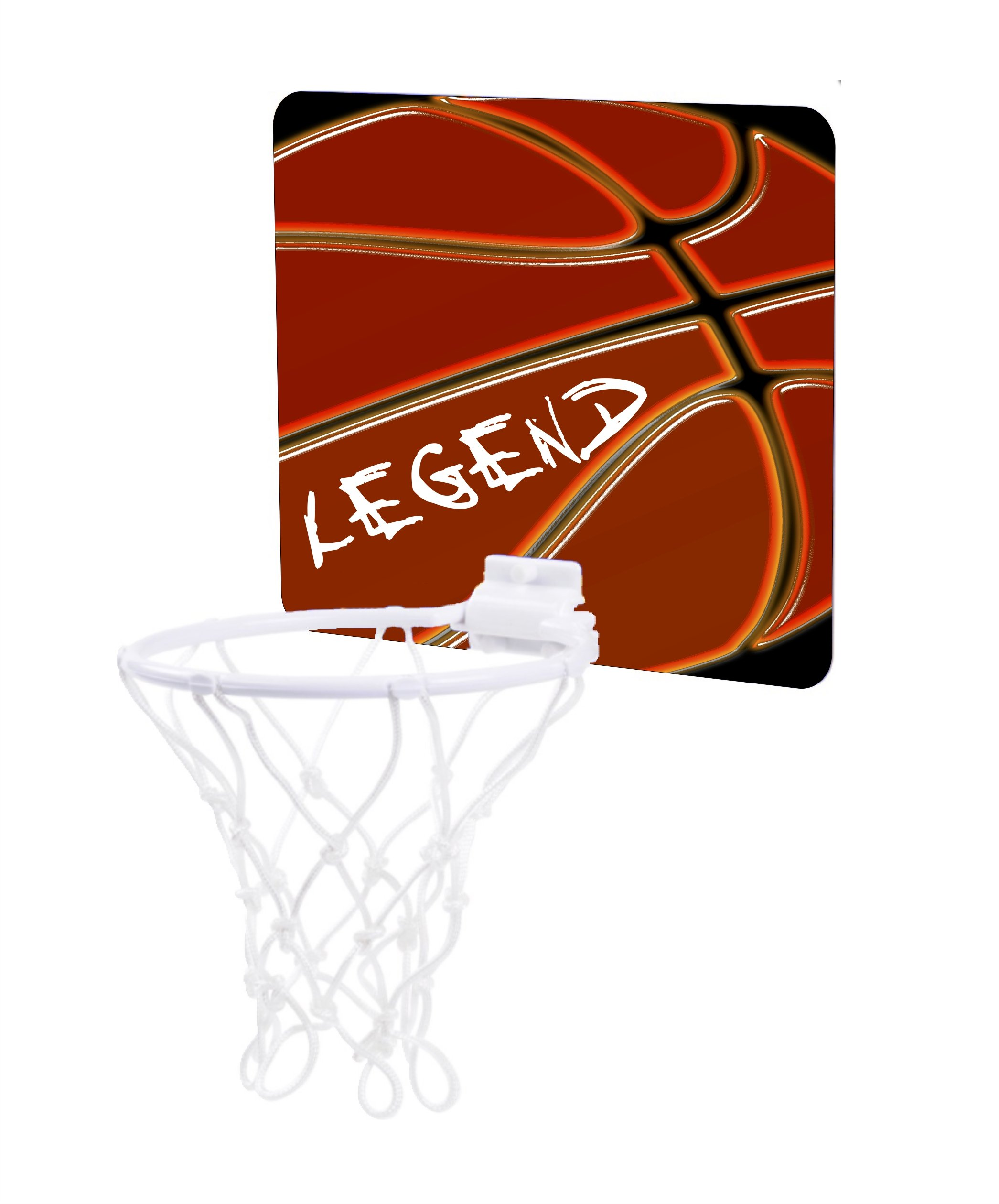 Jacks Outlet The Word Legend on Up-Close Basketball - Childrens 7.5'' x 9'' Mini Basketball Backboard - Goal with 6'' Hoop by Jacks Outlet (Image #1)