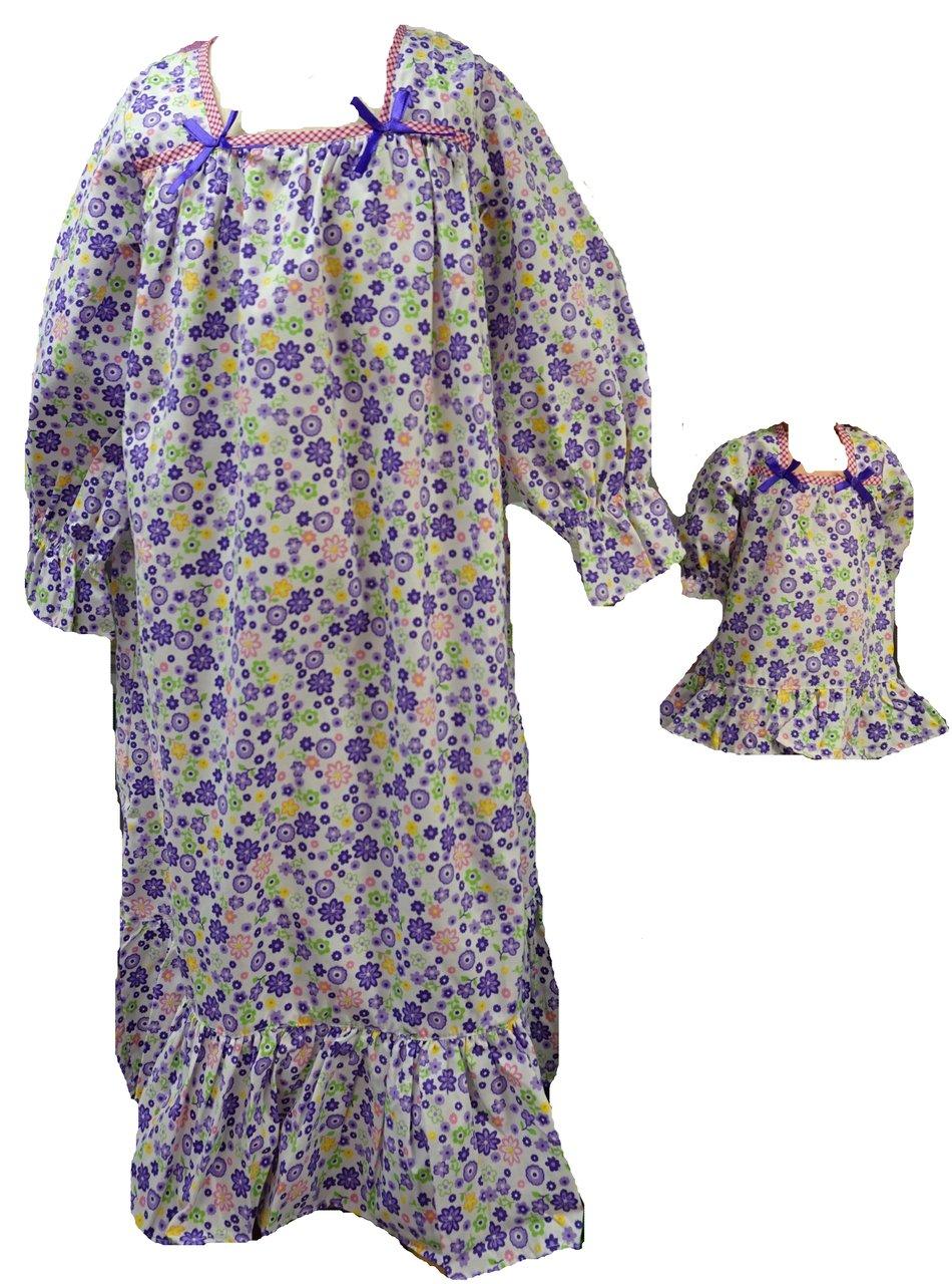 Matchingサイズ3/ 4 4 Chubby Matching/ Girl B01019PE8C and人形コットンパープル花Nightgowns B01019PE8C, リコメン堂生活館:810ac10f --- arvoreazul.com.br