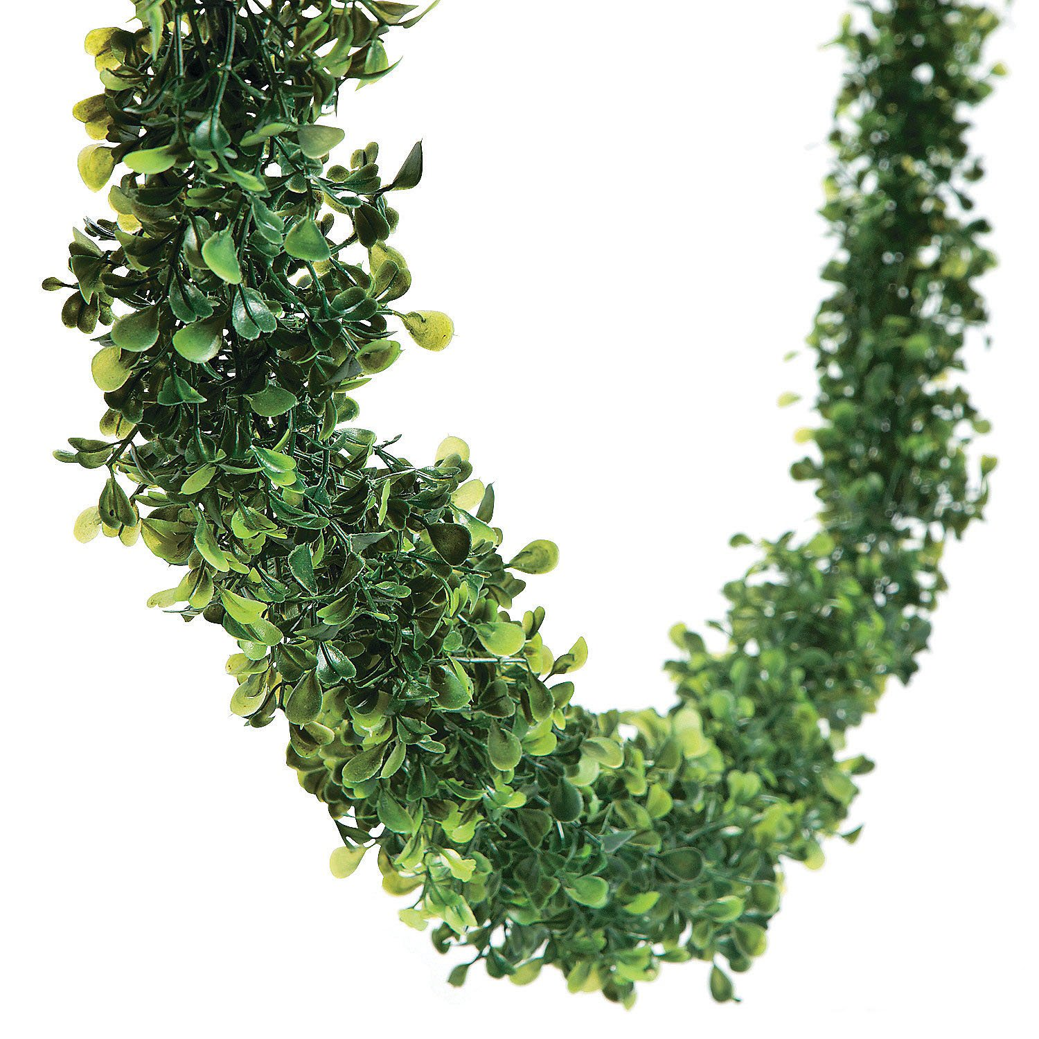 12 Feet BOXWOOD Leaf Garland Wedding Event Dining Table Faux Greenery Vine Decor