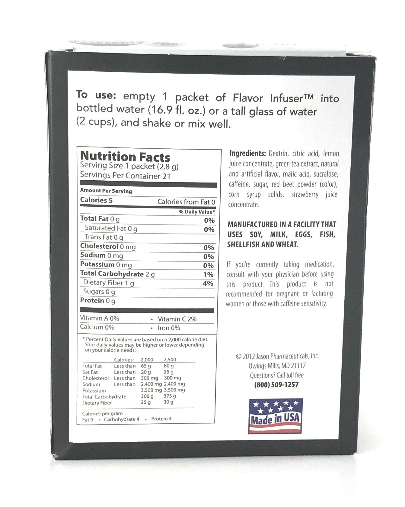 Medifast Essential1: Calorie Burn Strawberry Lemonade Flavor Infuser (1 Box/21 Servings) by Medifast (Image #5)