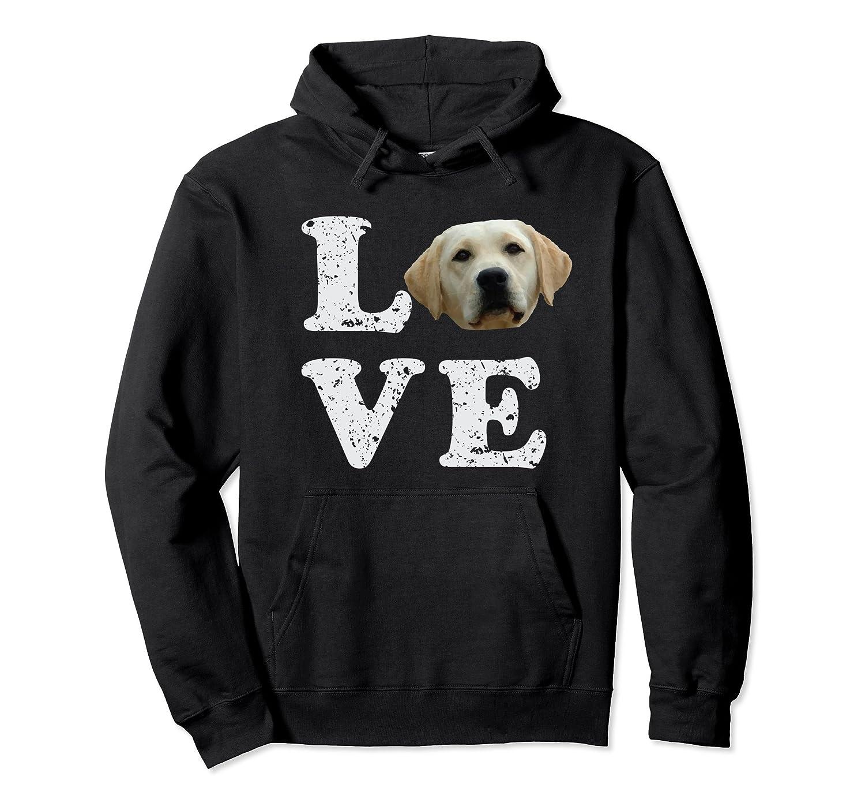 I Love My Yellow Lab Hoodie  Labrador Retriever Dog Gift-Samdetee