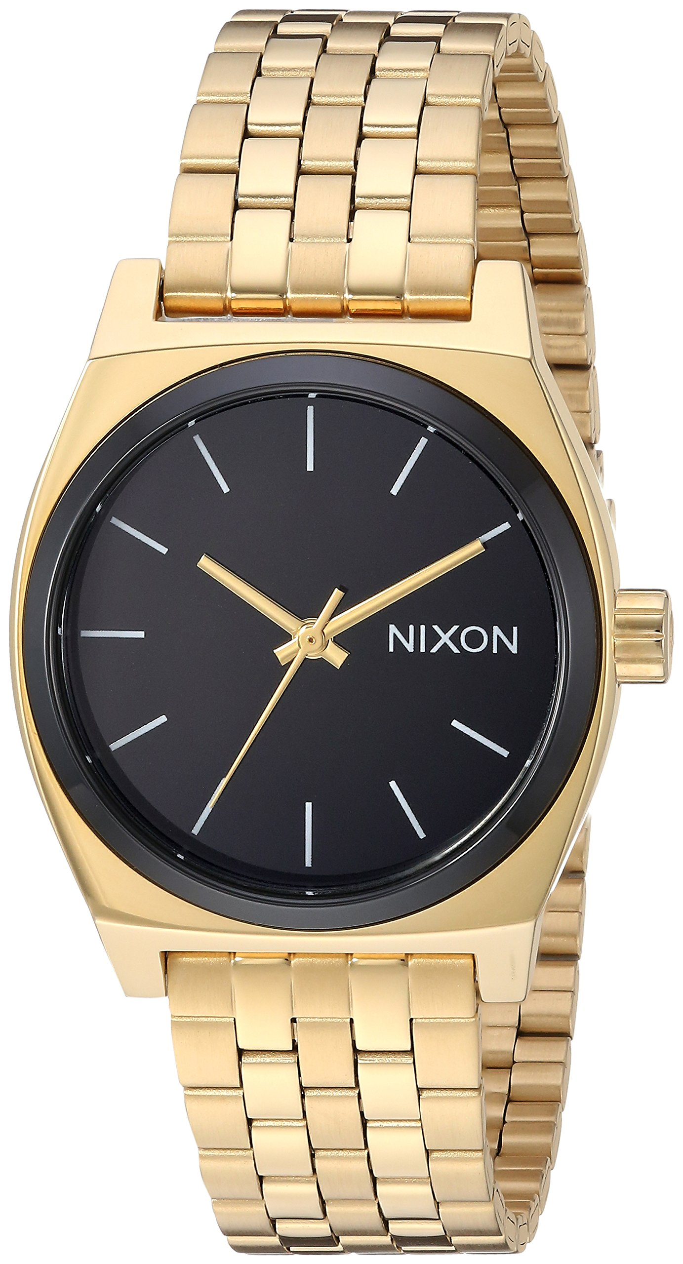 Nixon Women's 'Medium Time Teller' Quartz Stainless Steel Casual Watch, Color:Black (Model: A11302226)