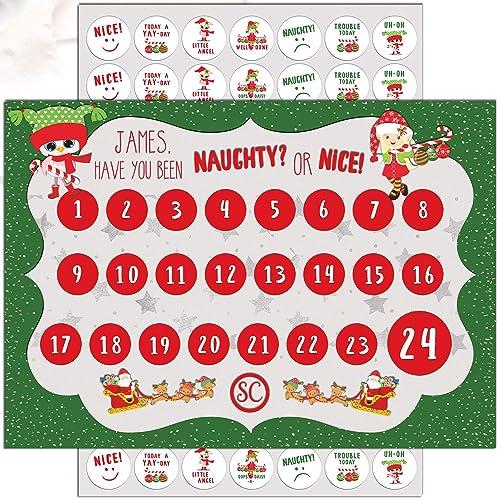 Christmas Naughty Or Nice Chart.Toddler Christmas Reward Chart Personalised For Girl Or Boy
