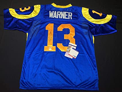 premium selection c1b41 dbb10 Kurt Warner Autographed Jersey - Los Angeles *SB MVP *HOF ...
