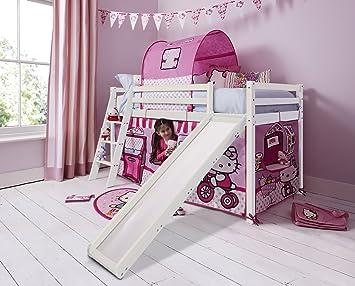 Etagenbett Für Kinder Mit Rutsche : Doppel hochbett mit rutsche flexa etagenbett white kinder