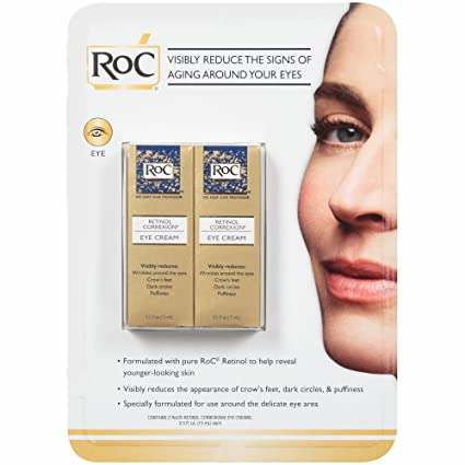Amazon Com Roc Retinol Correxion Eye Cream 2 Pk 0 5 Oz Pack