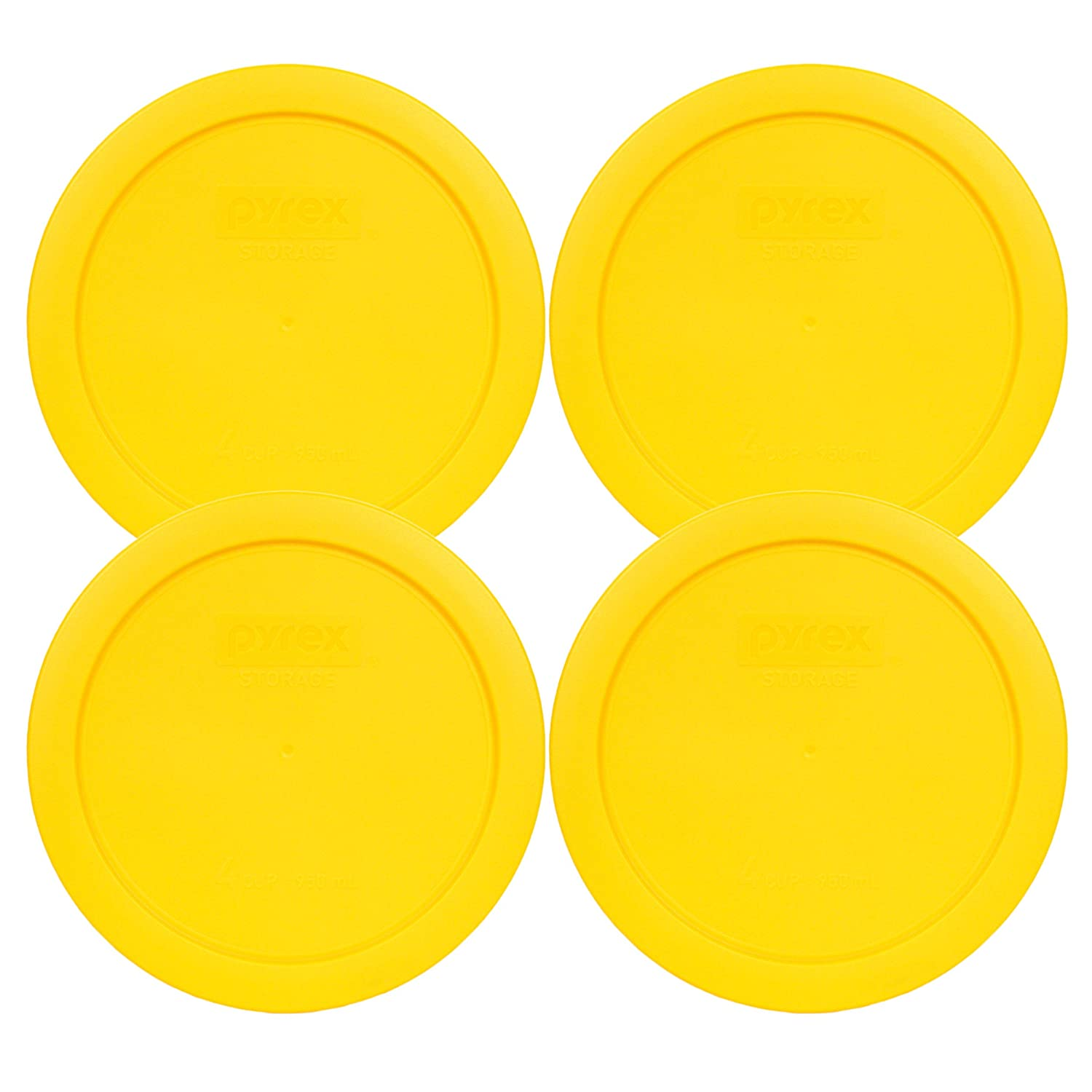 4, Yellow Pyrex 7201-PC 4 Cup Meyer Yellow Storage Lid for Glass Bowls