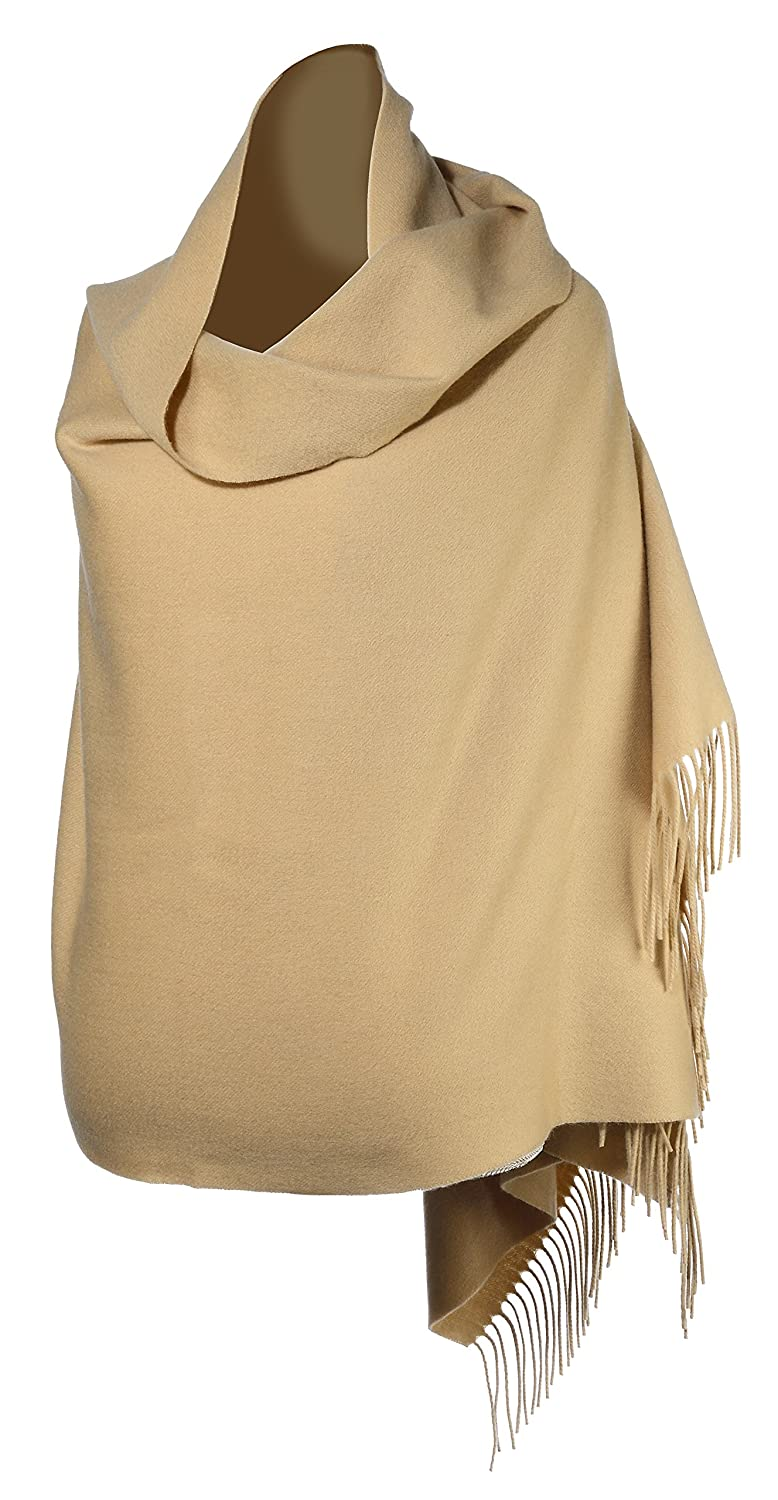 100% Cashmere Wrap Shawl Stole Grande 4-ply Travel Wrap (Pink, Hot Pink, Camel, Tapestry Gold, Wheat)
