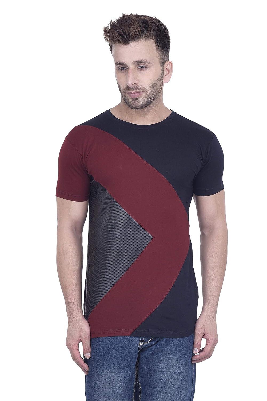 e57e9796 acomharc Men's Cotton Self Design T-Shirt: Amazon.in: Clothing & Accessories