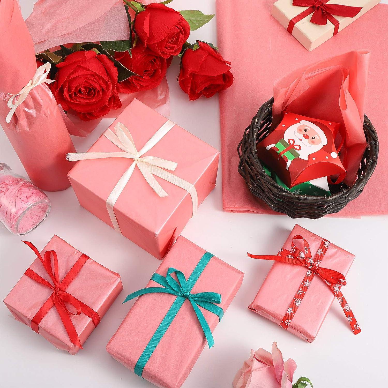 FRIUSATE 100 Hojas de Papel de Seda de Regalo Papel Seda para Envolver Regalos Papel de Seda Rosa Papel de Seda Decorativo para DIY Navidad Bodas Cumplea/ños 50 X 35 cm Oro Rosa